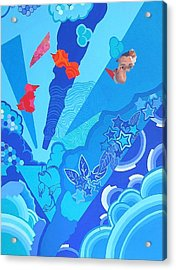 Blue That Surrounds Me Acrylic Print by Takayuki  Shimada
