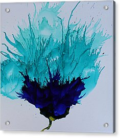Acrylic Print featuring the painting Blue Thistle by Suzanne Canner