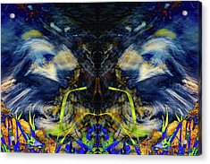 Blue Tigers Devil Acrylic Print