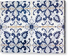 Blue Tile Of Portugal Acrylic Print by David Letts