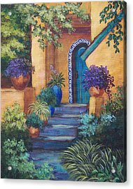 Blue Tile Steps Acrylic Print