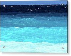 Blue Tones Of Ionian Sea Acrylic Print