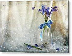Blue Tones Of Simplicity Acrylic Print by Randi Grace Nilsberg