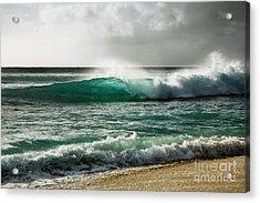 Blue Translucent Wave Acrylic Print