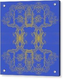 Blue Tree 14 Hybrid 4 Acrylic Print