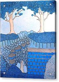 Blue Trees Acrylic Print