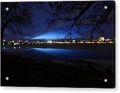 Blue Twilight Over The Charles River Acrylic Print by Toby McGuire