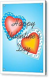 Blue Valentine Lace  Acrylic Print