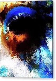 Blue Venice Mask Acrylic Print