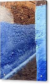 Acrylic Print featuring the photograph Blue Walls Of Chefchaouen by Ramona Johnston