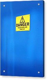 Blue Warning 2 Acrylic Print by Jez C Self