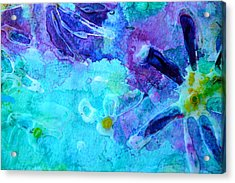 Blue Water Flower Acrylic Print
