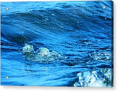 Blue Water Acrylic Print by Heike Hultsch