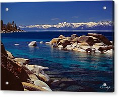 Blue Water Lake Tahoe Acrylic Print