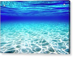 Blue Water Acrylic Print by Sean Davey
