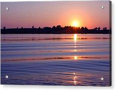 Blue Water Sunset Acrylic Print by Jim  Darnall