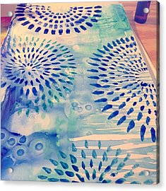 #blue Watercolor And #alcoholdrops Give Acrylic Print
