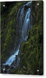 Acrylic Print featuring the photograph Blue Waterfall by Yulia Kazansky