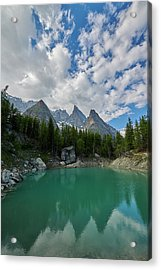 Blue Waters Of The French Alps Acrylic Print