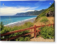 Acrylic Print featuring the photograph Blue Waters Of The Lost Coast by James Eddy