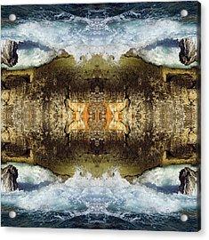 Blue Waves And Ancient Rocks I Acrylic Print