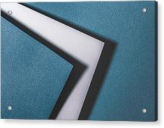 Blue White Blue Acrylic Print by Scott Norris