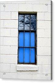 Blue Window Panes Acrylic Print by Sandra Church