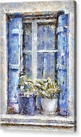 Blue Window Acrylic Print by Shirley Stalter