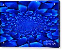 Blue Windows Abstract Acrylic Print by Carol Groenen