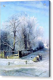 Blue Winter Days Acrylic Print