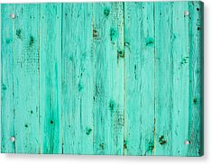 Acrylic Print featuring the photograph Blue Wooden Planks by John Williams