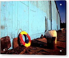 Blue Yellow And Red Acrylic Print by Peter OReilly