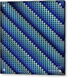 Blue Zag Acrylic Print