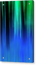 Bluebell Panned Abstract Acrylic Print
