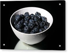 Blueberries Acrylic Print by Michael Ledray