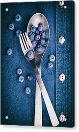 Blueberries On Denim II Acrylic Print