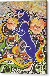 Blueberry Dog Acrylic Print by Elizabeth Bonanza