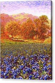 Blueberry Fields Season Of Blueberries Acrylic Print