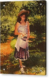 Blueberry Girl Acrylic Print