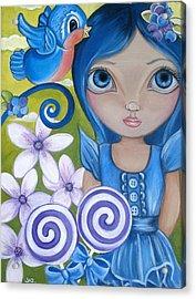 Blueberry Acrylic Print by Jaz Higgins