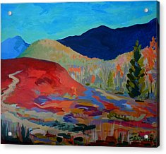 Acrylic Print featuring the painting Blueberry Sunrise by Francine Frank