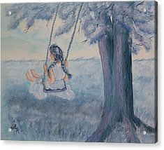 Blueberry Swing Acrylic Print by Kelly Mills