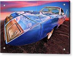Bluebird - 1970 Plymouth Road Runner Superbird Acrylic Print by Gordon Dean II