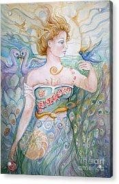 Bluebird Acrylic Print by Catherine Moore