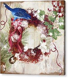 Bluebird Christmas I Acrylic Print