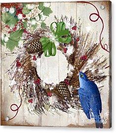 Bluebird Christmas II Acrylic Print