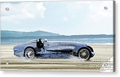 Bluebird II, 1928, World Record Land Speed Record At Pendine Sands, Wales, 178.88 Mph Acrylic Print
