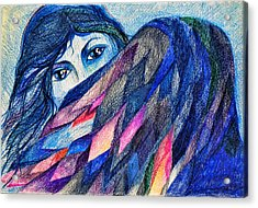 Bluebird Of Happiness. Acrylic Print by Anastasia Michaels