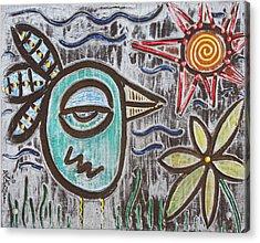 Bluebird Of Happiness Acrylic Print by Laura Barbosa