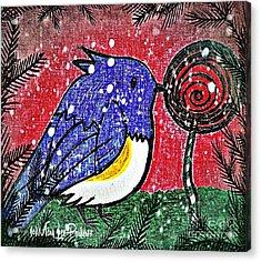 Bluebird Of The Season Acrylic Print by MaryLee Parker